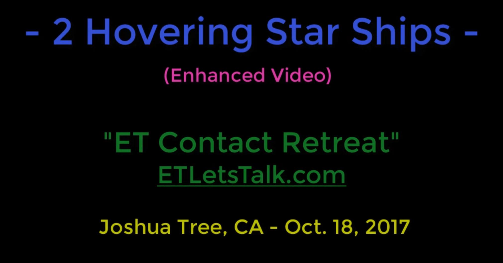 2 Hovering Star Ships enhanced video