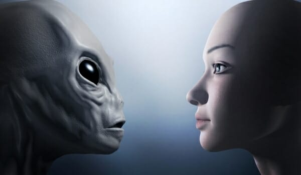 Telepathic communication with extraterrestrial