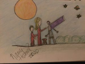 Nancy and son Star Gazing