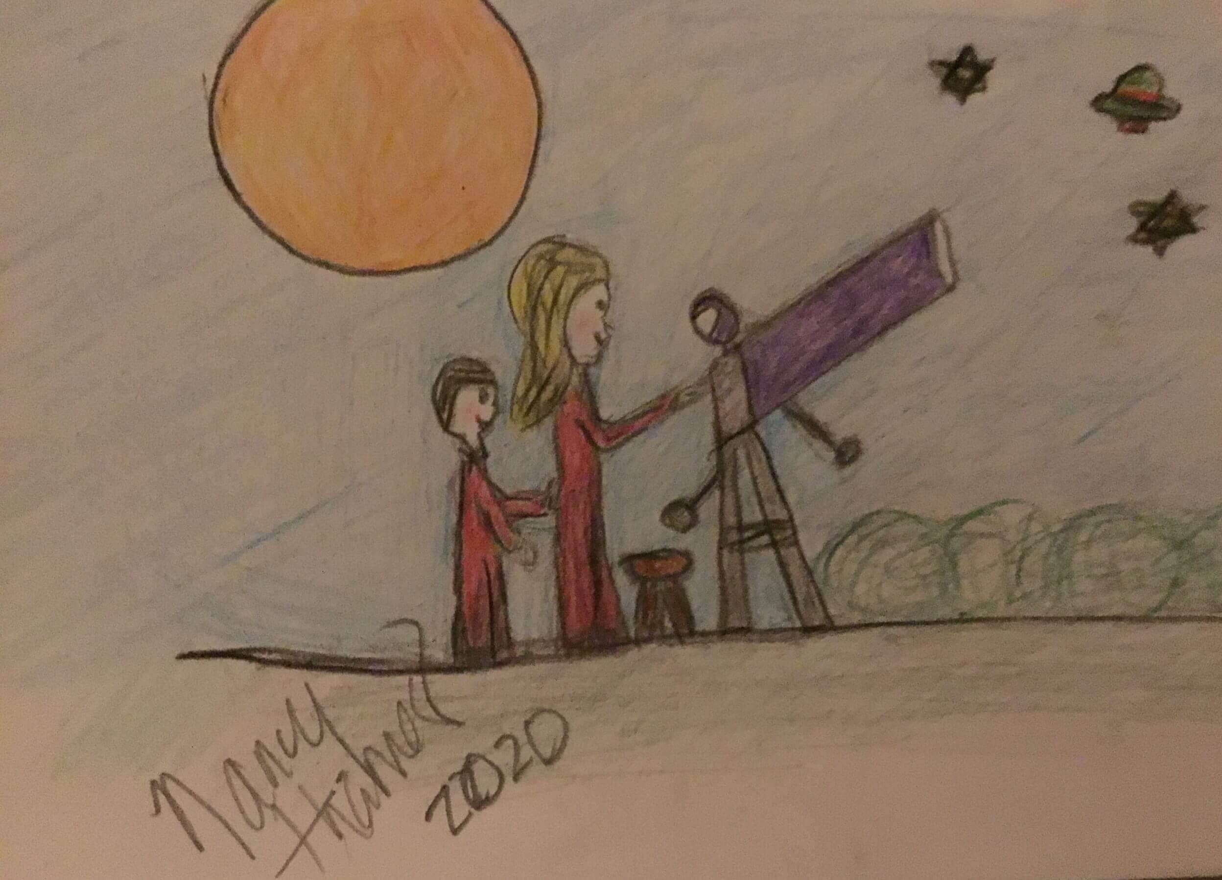 Nancy and son Star Gazing