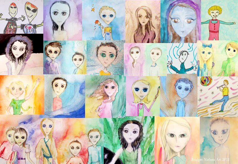 Hybrid Children Drawings